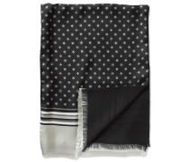 Seiden Schal in Schwarz mit geometrischem Muster