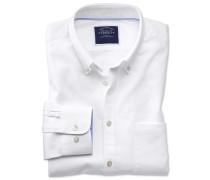 Classic Fit Oxfordhemd in Schlicht-Weiß