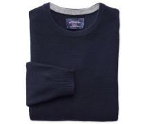 Merino / Baumwolle Pullover mit Rundhalsausschnitt