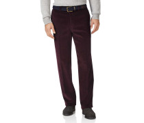 Classic Fit Jumbo Cordhose in Weinrot