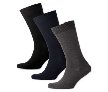 3er Pack Baumwollsocken in Bunt