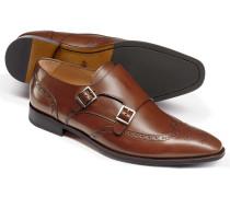 Budapester-Schuhe mit Doppelschnalle in Kastanien