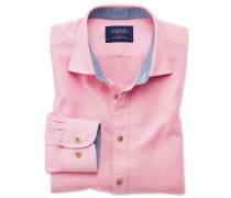 Slim Fit Hemd in gewaschenem Rosa