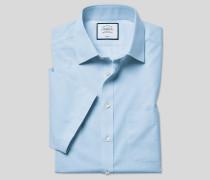 Bügelfreies Tyrwhitt Cool Popeline-Kurzarmhemd