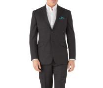 Classic Fit Business Anzug Sakko aus Hairline