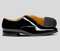 Oxford-Schuhe aus Lackleder - Schwarz
