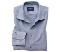 Slim Fit Hemd in gewaschenem Jeansblau