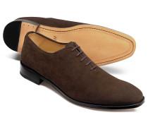 Wholecut-Schuhe aus Wildleder in Braun