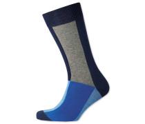 Socken in Blau mit Buntem Farbblock
