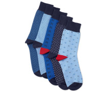 Geschenkkarton mit Socken in Blau