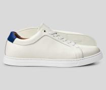 Leder-Sneaker - Weiß