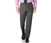 Slim Fit Businessanzug Hose aus Fil-à-Fil in Grau