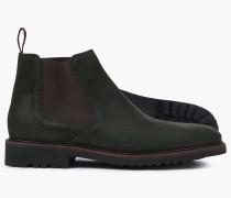 Extraleichte Chelsea Stiefel aus Wildleder in Grün