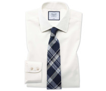 Slim Fit Popeline-Hemd in Cremefarben