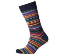 Socken mit Bunten Streifen