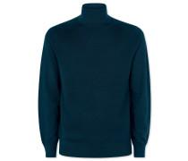 Merino-Pullover mit Rollkragen in Aquamarin
