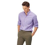 Vorgewaschenes bügelfreies Slim Fit Popeline-Hemd