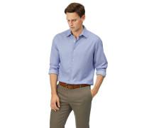 Vorgewaschenes Slim Fit Hemd aus Strukturgewebe