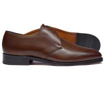 Rahmengenähte Derby-Schuhe mit 2 Ösen in Braun