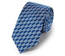 Klassische Krawatte aus Seide in Königsblau