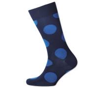 Socken mit großen Punkten in Marineblau und Royal