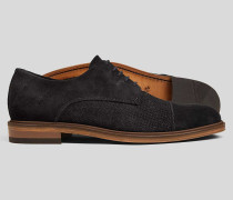 Derby-Schuhe mit gewebtem Wildleder-Oberschuh -