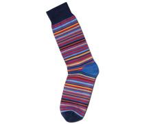 Socken mit bunten Streifen in Rot