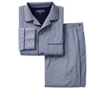 Pyjama-Set aus Baumwolle in MarineBlau