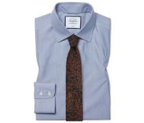 Bügelfreies Slim Fit Hemd in MarineBlau