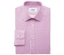 Extra Slim Fit Twill-Hemd in FuchsienRot