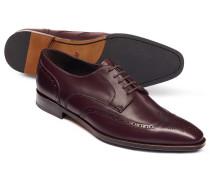 Budapester Derby-Schuhe in Burgunderrot