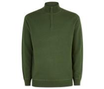 Merino-Kaschmir-Pullover mit Reißverschlusskragen