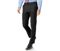 Slim Fit Businessanzughose aus Twill in Schwarz