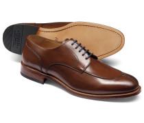 Derby-Schuhe mit schmaler Zehenpartie in Braun