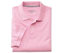 Polohemd aus Baumwoll-Piqué in Rosa