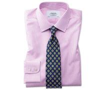 Bügelfreies Slim Fit Hemd in Rosa