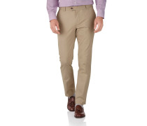 Slim Fit Stretch chino Hose in Gelbbraun