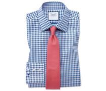 Bügelfreies Classic Fit Hemd in Mittelblau