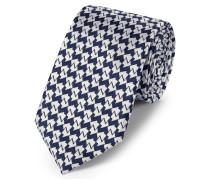 Klassische Krawatte aus Seide in Marineblau