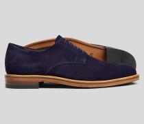 Derby-Schuhe aus Wildleder - Blau