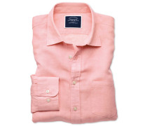 Hemd Classic Fit Tencel™/Leinen in Rosa