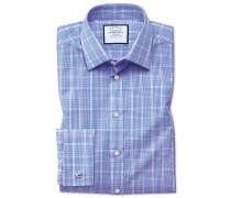 Extra Slim Fit Hemd in Blau