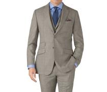 Slim Fit Panama-Businessanzug Sakko in Grau