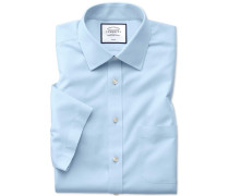Slim fit non-iron natural cool short sleeve sky blue