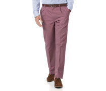 Bügelfreie Classic Fit Chinohose