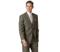 Businessanzugsakko Classic Fit Twill in Olive