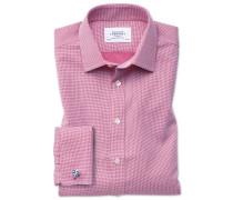 Bügelfreies Classic Fit Hemd in Magenta