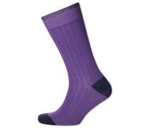 Rippstrick-Socken in Lila