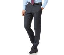 Slim Fit Business-Hose aus Twill in Stahlblau
