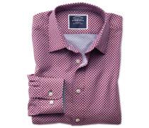 Bügelfreies Slim Fit Hemd aus Chambray-Stoff